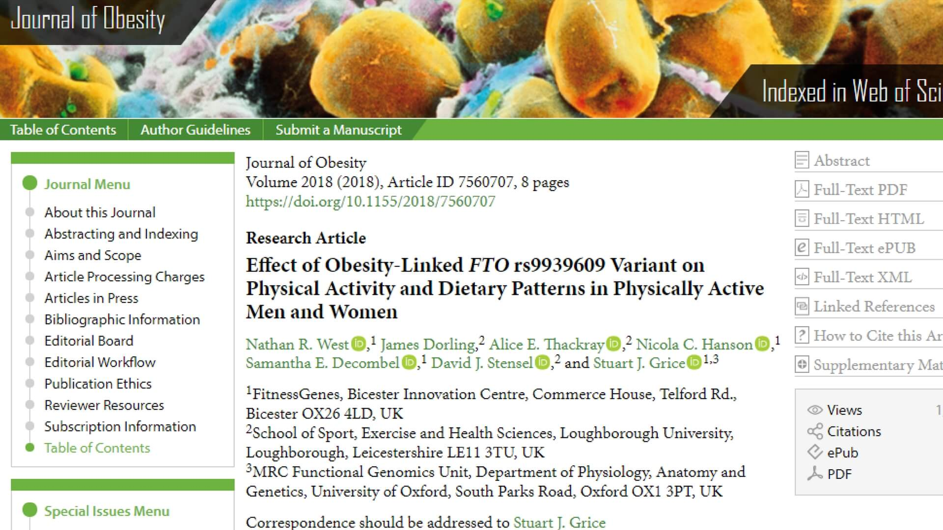 Journal of Obesity