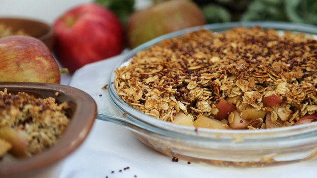 Apple and Quinoa Crumble