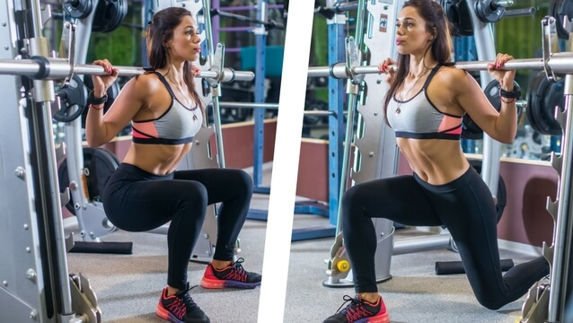 Squat (bilateral) and split squat (unilateral)