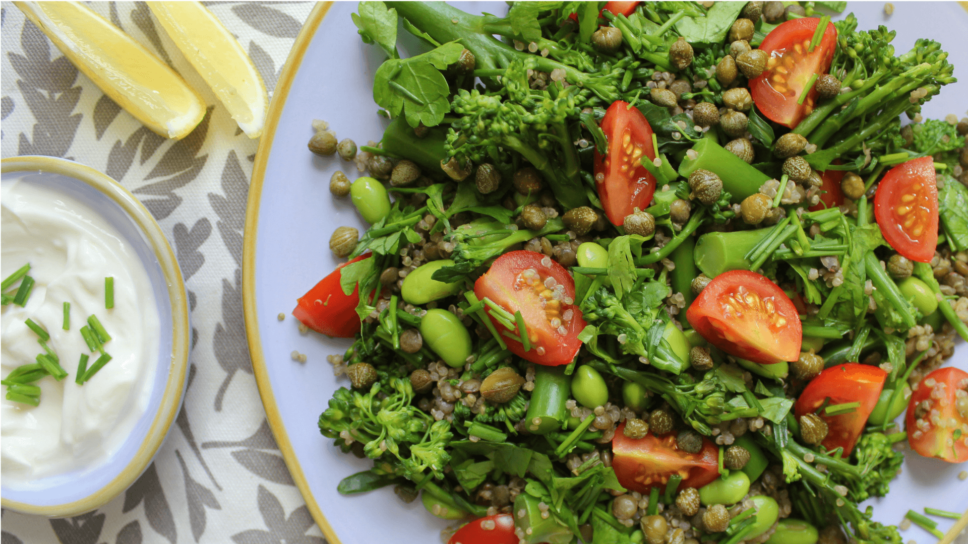 Lentil, Quinoa, and Herb Garden Salad