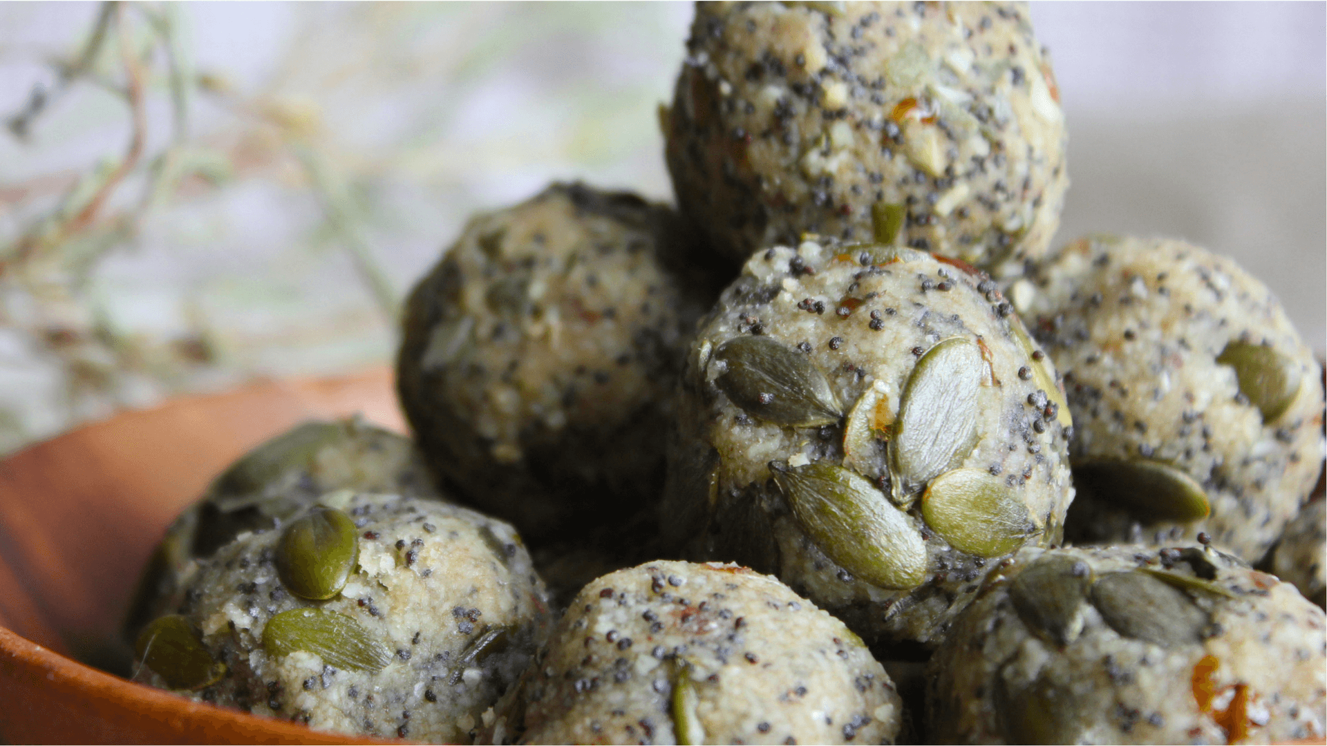 Date, nut and seed energy balls