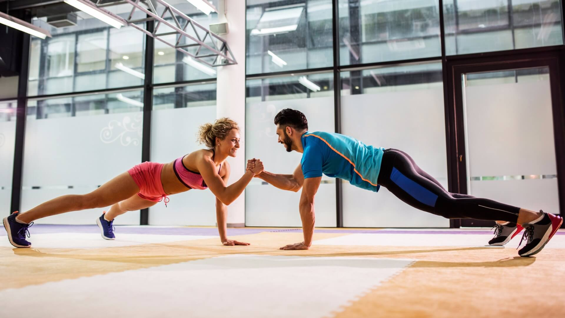 lean couple exercising