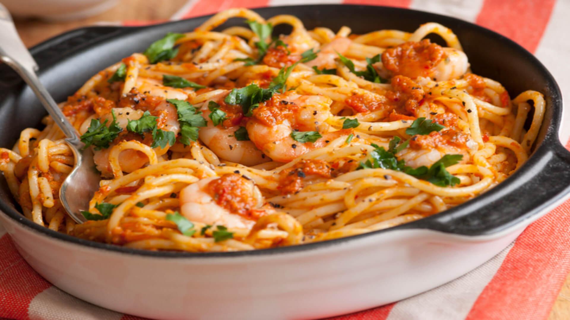 Prawn and Tomato Pasta