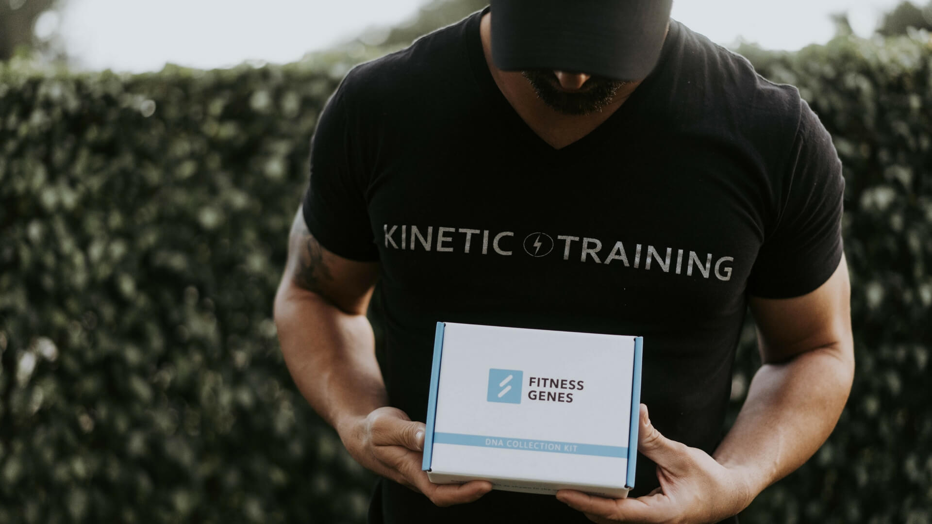 Daniel Palacios with FitnessGenes DNA analysis kit