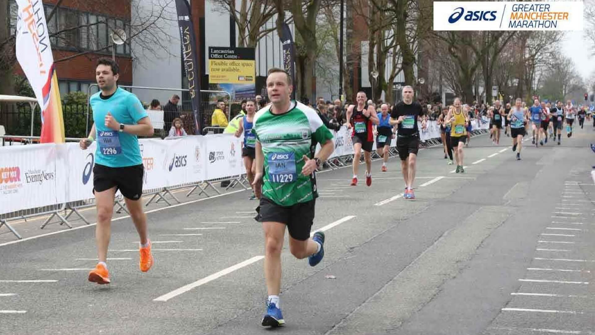 Ian Baynes at the Manchester Marathon