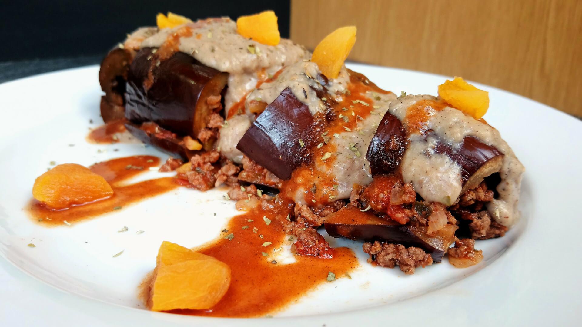 Moussaka-Style Stuffed Eggplant