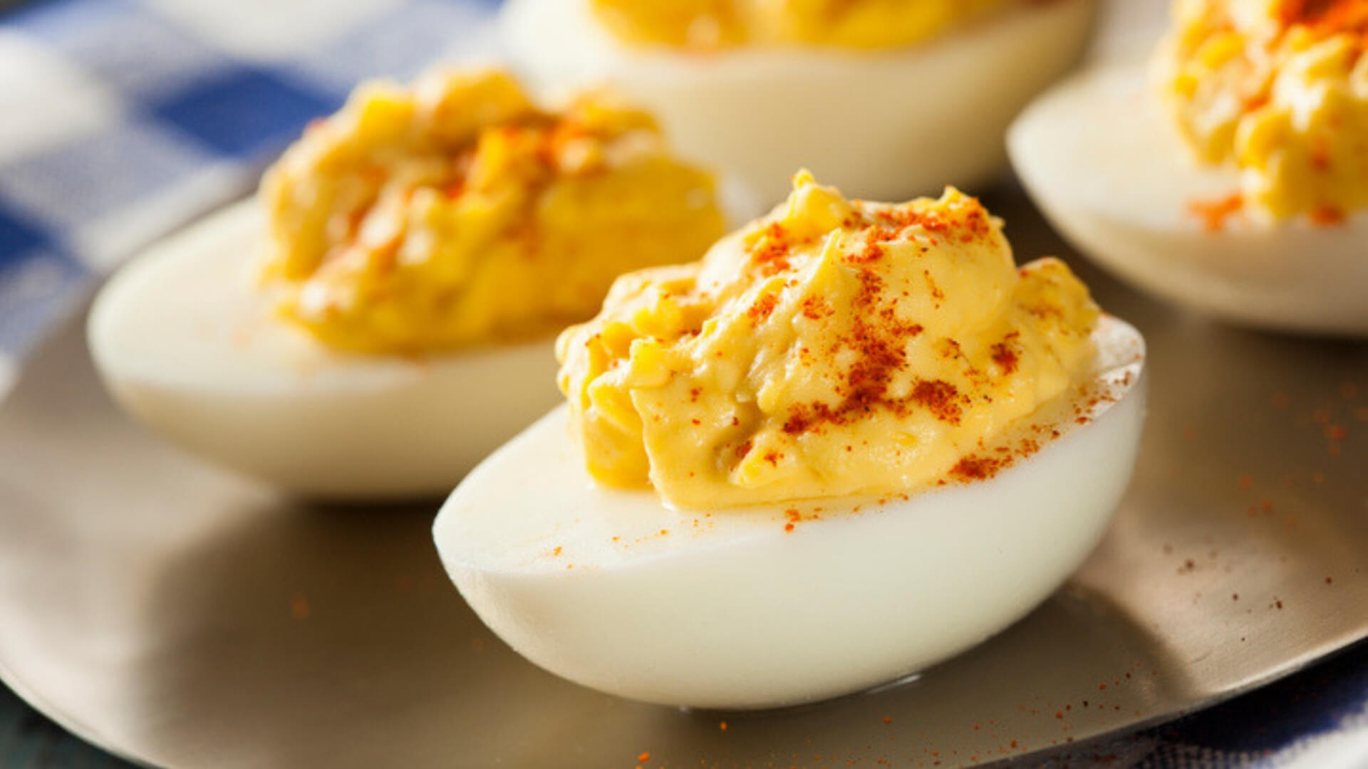 Cottage Cheese Devilled Eggs