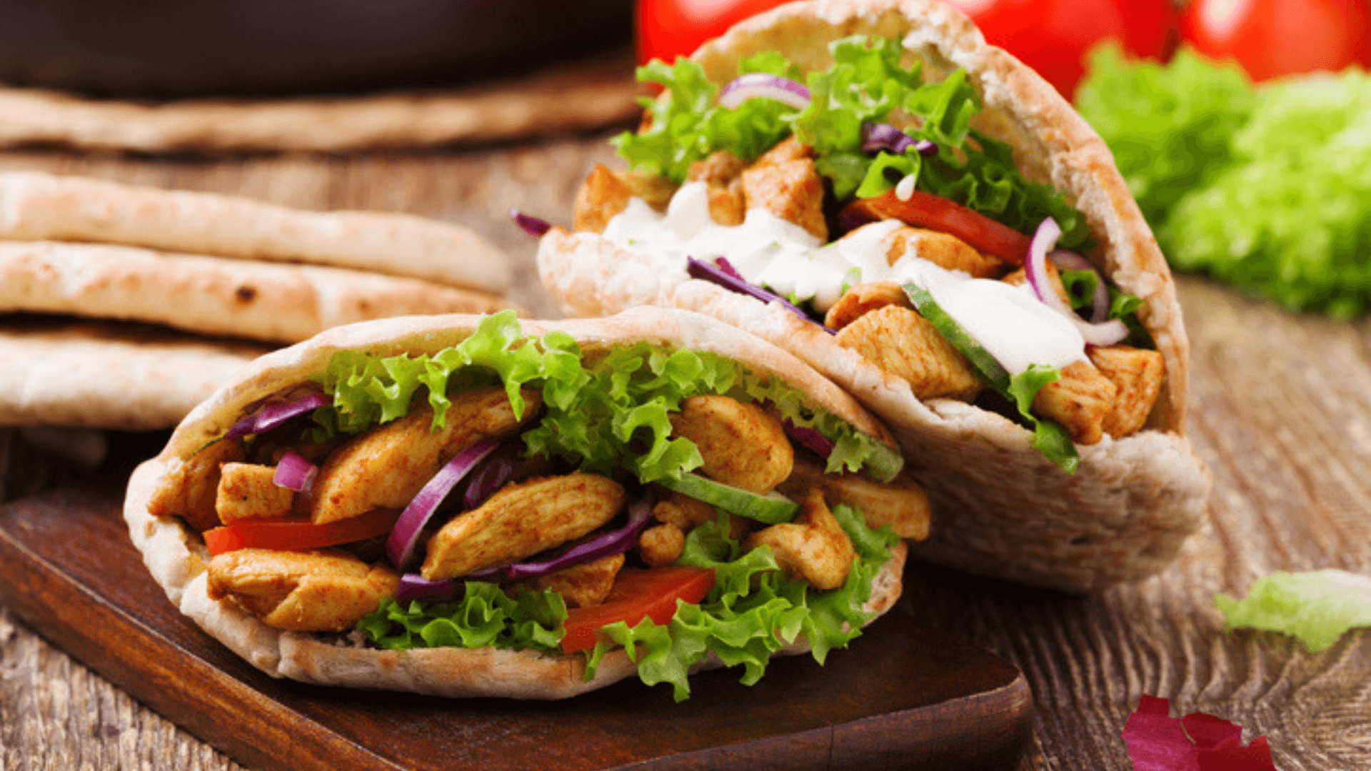 Chicken Gyros with Tzatziki